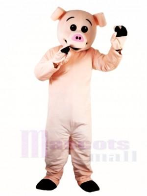 Nettes rosa Schwein Maskottchen kostüm Bauernhoftier
