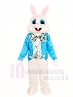 Hase Osterhase mit Blaues Hemd-Maskottchen Kostüm Tier