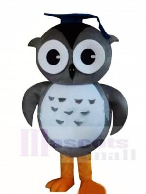 Grau Arzt Eule Maskottchen Kostüme mit Mütze Tier
