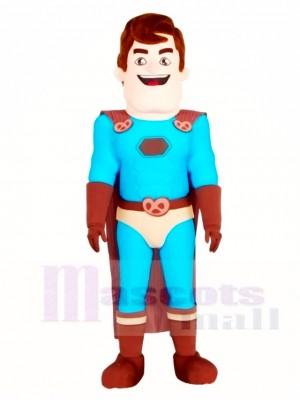Super Hero mit braunen Mantel Maskottchen Kostüme Menschen