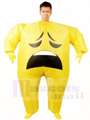 Emoji Besorgt aufblasbar Halloween Xmas Blow Up Kostüme für Erwachsene