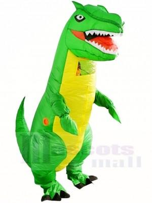 Grüne Tyrannosaurus T-REX Dinosaurier aufblasbare Halloween Weihnachts kostüme für Erwachsene