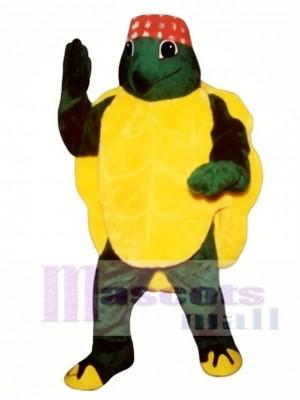 Karate Turtle mit Stirnband Maskottchen Kostüm