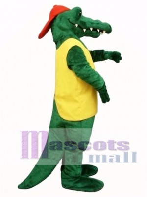 Tuff Gator mit Shirt & Hut Maskottchen Kostüm