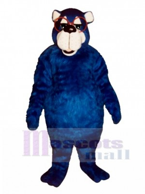 Fat Country Bear with Glasses Mascot Costume