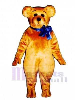 Niedlichen Teddy mit Bogen Weihnachten Maskottchen Kostüm