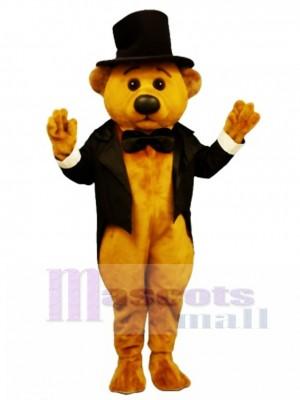 Neu Sophisticated Bär mit Frack und Hut Maskottchen Kostüm