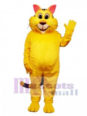 Niedlich Großer Yeller Katzen Maskottchen Kostüm