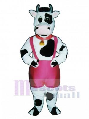 Süße Peter Porterhouse Kuh mit Farben, Bell & Kragen Maskottchen Kostüm Tier