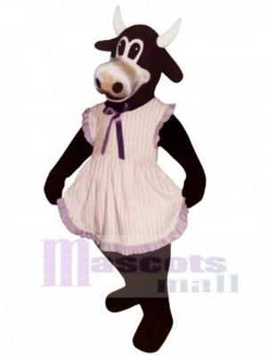 Frau Buttercup Rinder mit Schürze Maskottchen Kostüm