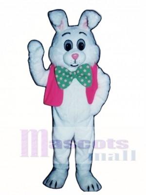 Fett Hase Kaninchen mit Weste & Bowtie Maskottchen Kostüm