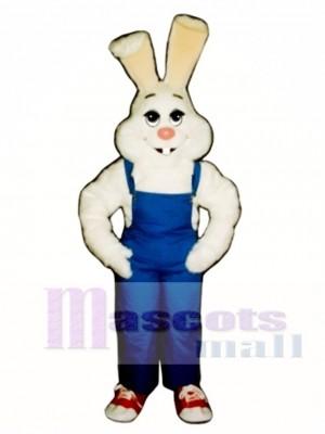 Ostern Bauer Hase Kaninchen mit Lätzchen Overall Maskottchen Kostüm