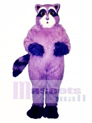 Lila Waschbär Maskottchen Kostüm Tier