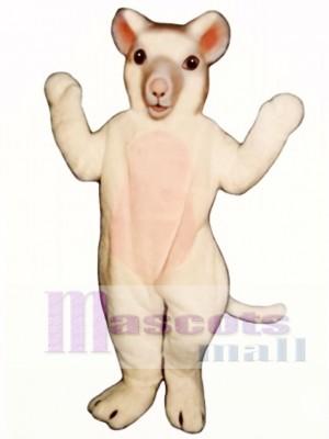 Weiße Maus Maskottchen Kostüm