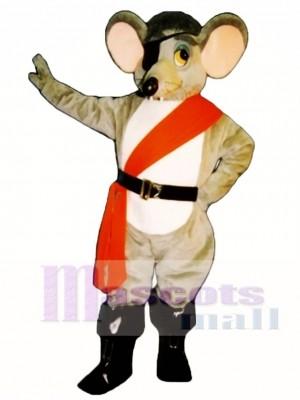 Fluss Ratte mit Augenklappe, Sash & Boots Maskottchen Kostüm