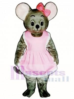 Mitzi Maus mit Schürze & Bow Maskottchen Kostüm