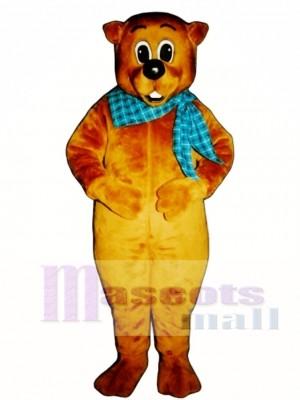 Chuckie Waldmurmeltier mit Halstuch Maskottchen Kostüm