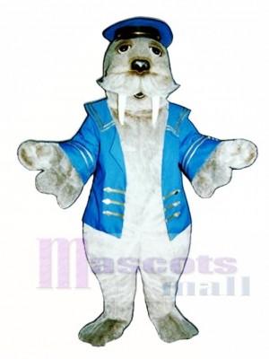 Nettes Walross mit Seemann Anzug Maskottchen Kostüm