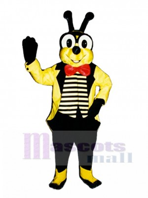Yellow Bee with Jacket Mascot Costume