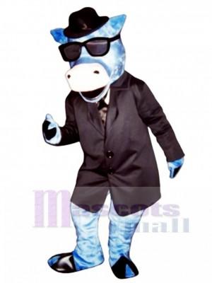 Blues Moo Rinder Maskottchen Kostüm Tier