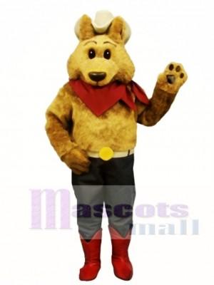 Nettes Cowboy Kojote Wolf Maskottchen Kostüm