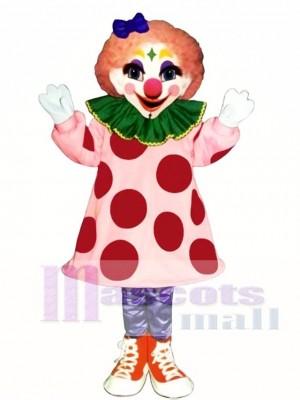 Mädchen Clown Maskottchen Kostüm