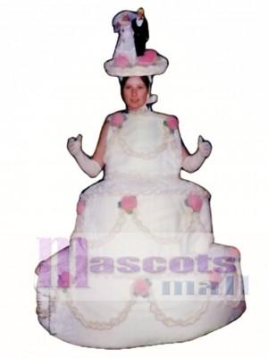 Drei Schicht Kuchen Maskottchen Kostüm