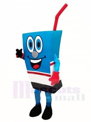 Blau Saft Kasten Maskottchen Kostüm Getränk