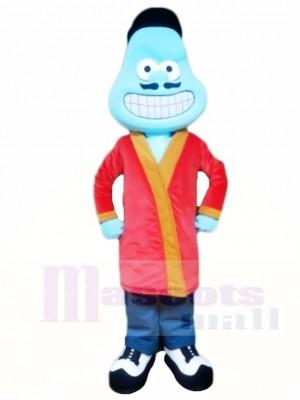 Blau Stengel Zelle Maskottchen Kostüme