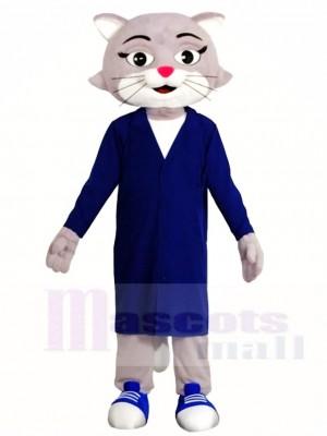 Grau Arzt Katze Maskottchen Kostüme Tier