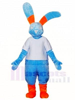 Blau Kaninchen Maskottchen Kostüme Häschen Hase Tier