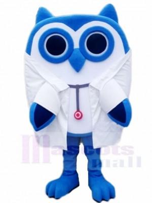 Blau Eule Arzt Maskottchen Kostüme Tier