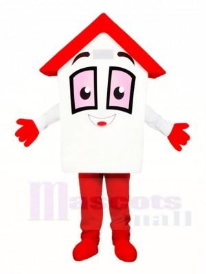 rot Dach Haus Home Maskottchen Kostüme für Immobilien Agentur Promotion