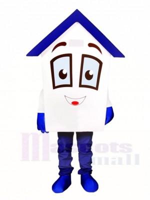 Blau Dach Haus Home Maskottchen Kostüme für Immobilien Agentur Promotion