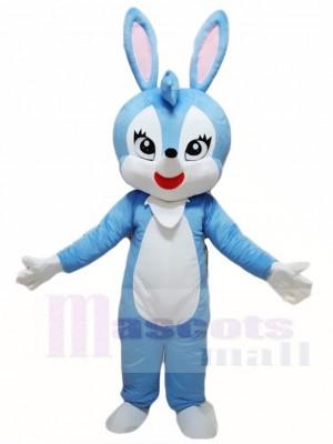 Blaues Osterhasen Kaninchen Hase Maskottchen Kostüm Tier