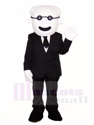 Alter Mann im Anzug Maskottchen Kostüme Menschen
