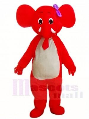 rot Elefant Maskottchen Kostüme Tier