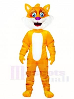 Gelbe Fettkatze Maskottchen kostüme Tier