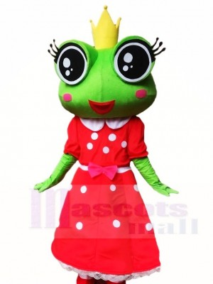 Frosch Prinzessin im roten Kleid Maskottchen Kostüm Tier