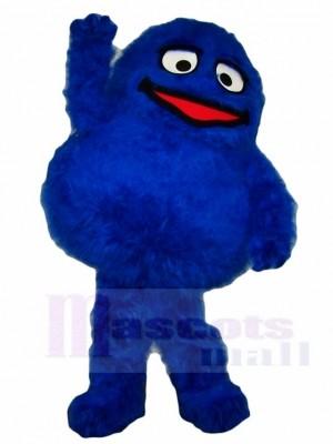 Flauschige blaue Monster Maskottchen Kostüme