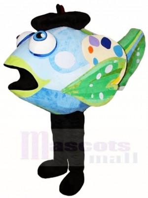 Blaue und grüne Clown Fisch Maskottchen Kostüme Wasserozean Aquarium