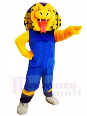Blaues Shirt Sport Schlange Maskottchen Kostüme Tier