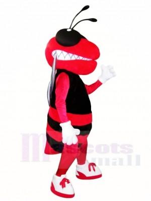 Rote und schwarze Hornisse Biene Maskottchen Kostüme Insekt