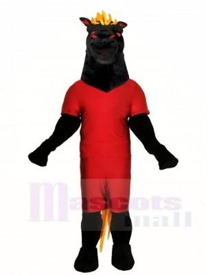 Schwarz Hengst Pferd Maskottchen Kostüme Tier