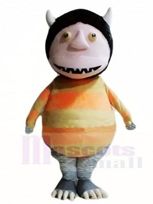 Monster mit Schwarz Maskottchen Kostüme Karikatur