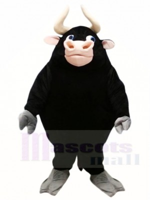 Schwarzer Bulle Maskottchen Kostüme Vieh