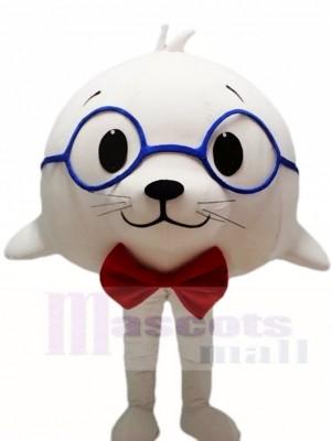 Nettes weißes Seelöwe Siegel Maskottchen Kostüme Tier