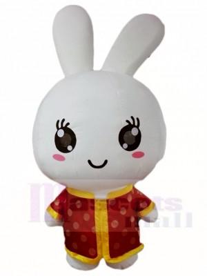 Rotes Hemdkaninchen Ostern Häschen Maskottchen Kostüme Tier