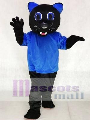 Königsblau Sir Purr Maskottchen Kostüme Carolina Schwarze Panther