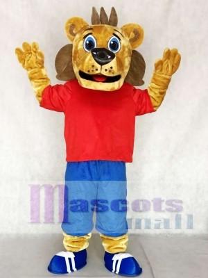 rot Sport Coaching Löwe Maskottchen Kostüme Tier